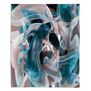 Decorative Fleece Throw Blankets | Angelina Vick - Your Ocean Blue | abstract pattern