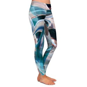Casual Comfortable Leggings | Angelina Vick - Your Ocean Blue | abstract pattern
