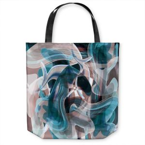 Unique Shoulder Bag Tote Bags | Angelina Vick - Your Ocean Blue | abstract pattern