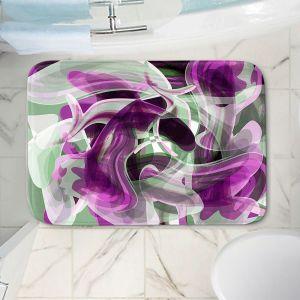 Decorative Bathroom Mats | Angelina Vick - Your Ocean Purple | abstract pattern