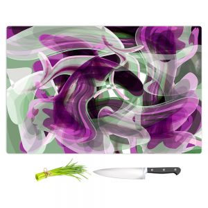 Artistic Kitchen Bar Cutting Boards | Angelina Vick - Your Ocean Purple | abstract pattern