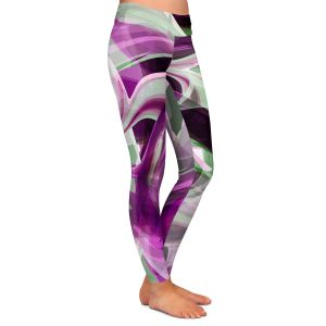 Casual Comfortable Leggings | Angelina Vick - Your Ocean Purple | abstract pattern