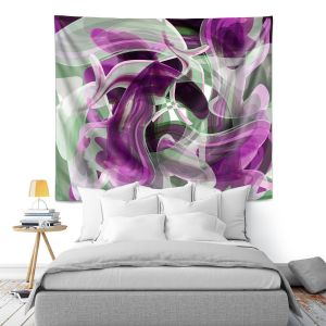 Artistic Wall Tapestry | Angelina Vick - Your Ocean Purple | abstract pattern