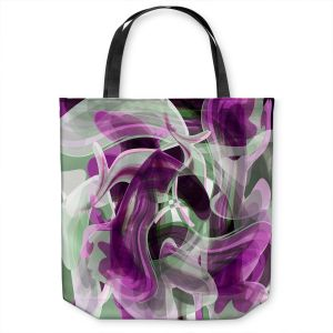 Unique Shoulder Bag Tote Bags | Angelina Vick - Your Ocean Purple | abstract pattern