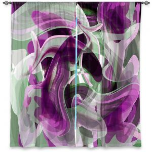 Decorative Window Treatments | Angelina Vick - Your Ocean Purple | abstract pattern