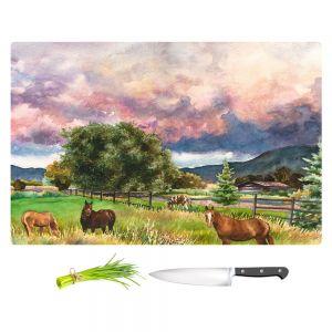 Artistic Kitchen Bar Cutting Boards | Anne Gifford - Dinner at Dusk