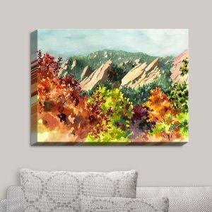 Decorative Canvas Wall Art   Anne Gifford - Fall Flatirons Boulder