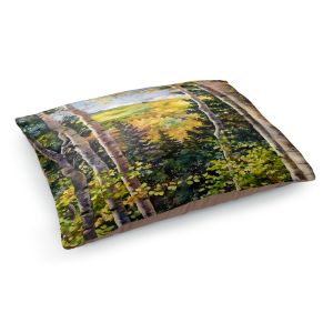 Decorative Dog Pet Beds | Anne Gifford - Aspen Afternoon | Nature Tree Landscape Still Life Mountains