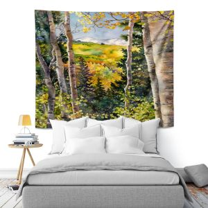 Artistic Wall Tapestry   Anne Gifford - Aspen Afternoon   Nature Tree Landscape Still Life Mountains