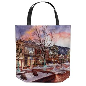 Unique Shoulder Bag Tote Bags   Anne Gifford - Boulder Pearl Street   Colorado Mountains