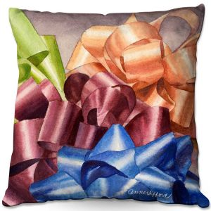 Throw Pillows Decorative Artistic | Anne Gifford - Bows 2 | Christmas, Birthday, Present