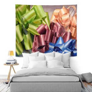 Artistic Wall Tapestry   Anne Gifford - Bows 2   Christmas, Birthday, Present