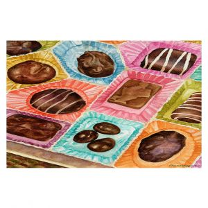 Decorative Floor Covering Mats | Anne Gifford - Box Chocolate | Still life sweets candy close up