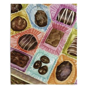 Decorative Fleece Throw Blankets | Anne Gifford - Box Chocolate | Still life sweets candy close up