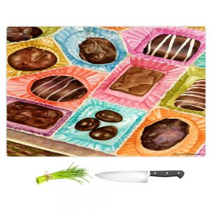 Artistic Kitchen Bar Cutting Boards | Anne Gifford - Box Chocolate | Still life sweets candy close up