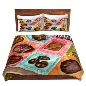 Artistic Duvet Covers and Shams Bedding | Anne Gifford - Box Chocolate | Still life sweets candy close up