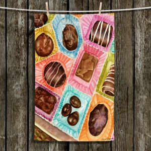 Unique Hanging Tea Towels | Anne Gifford - Box Chocolate | Still life sweets candy close up