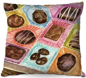 Throw Pillows Decorative Artistic | Anne Gifford - Box Chocolate | Still life sweets candy close up