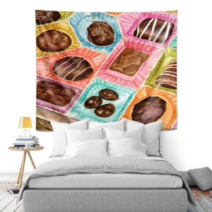 Artistic Wall Tapestry | Anne Gifford - Box Chocolate | Still life sweets candy close up