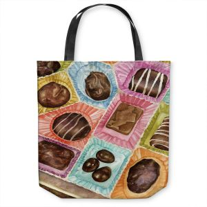 Unique Shoulder Bag Tote Bags | Anne Gifford - Box Chocolate | Still life sweets candy close up