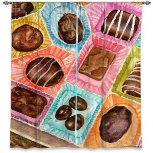 Decorative Window Treatments | Anne Gifford - Box Chocolate | Still life sweets candy close up