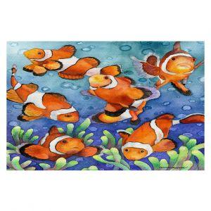 Decorative Floor Covering Mats | Anne Gifford - Clown Fish | Ocean sea creatures nature