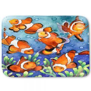 Decorative Bathroom Mats | Anne Gifford - Clown Fish | Ocean sea creatures nature