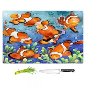 Artistic Kitchen Bar Cutting Boards | Anne Gifford - Clown Fish | Ocean sea creatures nature