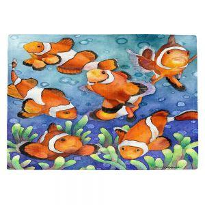 Countertop Place Mats   Anne Gifford - Clown Fish   Ocean sea creatures nature