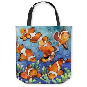 Unique Shoulder Bag Tote Bags | Anne Gifford - Clown Fish | Ocean sea creatures nature