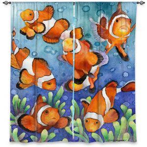 Decorative Window Treatments | Anne Gifford - Clown Fish | Ocean sea creatures nature