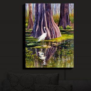 Nightlight Sconce Canvas Light | Anne Gifford - Down in Swamplands | Crane Bird