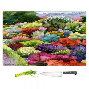 Artistic Kitchen Bar Cutting Boards | Anne Gifford - Electric Garden | Landscape nature flowers plants bushes trees
