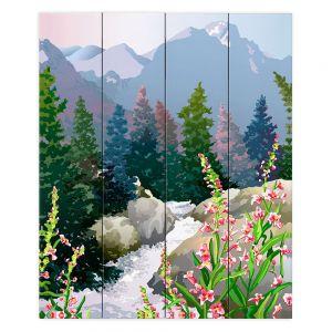 Decorative Wood Plank Wall Art | Anne Gifford Mountain Stream