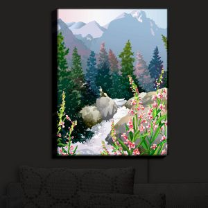 Nightlight Sconce Canvas Light | Anne Gifford's Mountain Stream