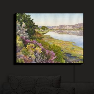 Nightlight Sconce Canvas Light | Anne Gifford - Oregon Trail | Nature Lake Pond Mountains