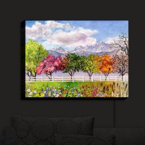 Nightlight Sconce Canvas Light | Anne Gifford - Parade of Seasons | Mountains Colorful Trees