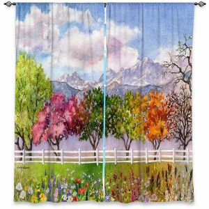 Decorative Window Treatments | Anne Gifford - Parade of Seasons | Mountains Colorful Trees