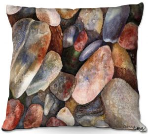 Unique Outdoor Pillow 16X16 from DiaNoche Designs by Anne Gifford - River Rocks