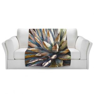 Artistic Sherpa Pile Blankets | Anne Gifford Sunstruck Yucca Plant
