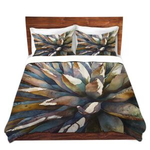 Artistic Duvet Covers and Shams Bedding | Anne Gifford - Sunstruck Yucca Plant