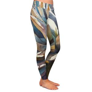 Casual Comfortable Leggings | Anne Gifford Sunstruck Yucca Plant