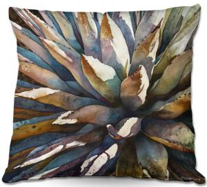 Unique Outdoor Pillow 18X18 from DiaNoche Designs by Anne Gifford - Sunstruck Yucca Plant