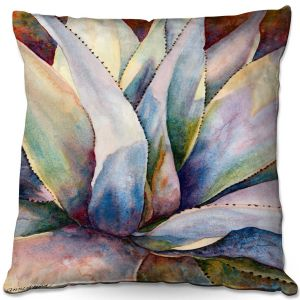 Throw Pillows Decorative Artistic   Anne Gifford - Tritone Yucca   Leaves Plants Desert