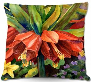 Unique Outdoor Pillow 16X16 from DiaNoche Designs by Anne Gifford - Fritillaria