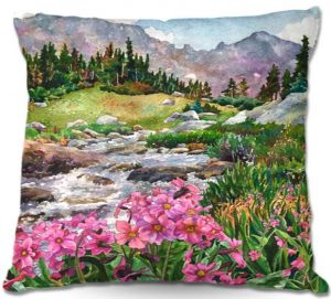 Decorative Outdoor Patio Pillow Cushion   Anne Gifford - Parrys Primrose