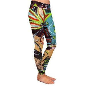 Casual Comfortable Leggings | Ann Marie Cheung - Bloom | Flower abstract collage nature dark whimsical