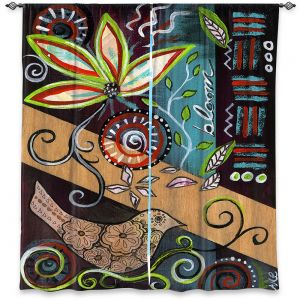 Decorative Window Treatments   Ann Marie Cheung - Bloom   Flower abstract collage nature dark whimsical