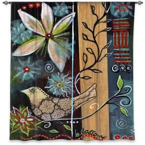 Decorative Window Treatments   Ann Marie Cheung - Blossom   Flower abstract collage nature dark whimsical