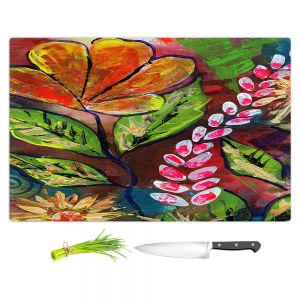 Artistic Kitchen Bar Cutting Boards | Ann Marie Cheung - Blossoms | Flower abstract collage nature dark whimsical